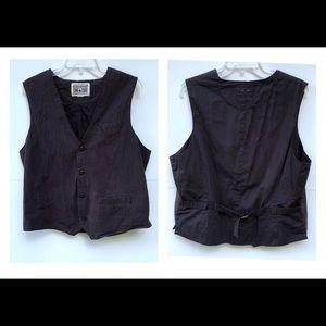 Men's converse black pinstriped vest size large